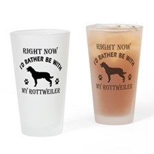 Rottweiler Dog Breed Designs Drinking Glass