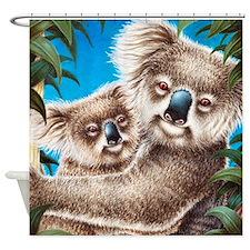 Koala and Baby Shower Curtain