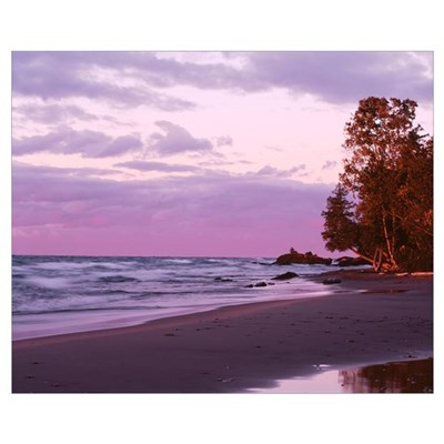 Michigan, Keweenaw Peninsula, Upper Peninsula, Lak Framed Print