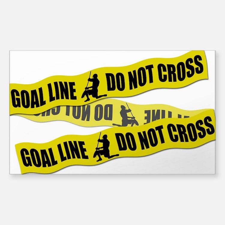 Lacrosse Crime Tape Sticker (Rectangle)