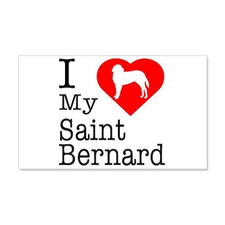 I Love My Saint Bernard 22x14 Wall Peel