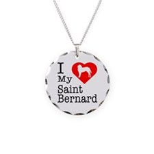 I Love My Saint Bernard Necklace