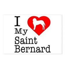 I Love My Saint Bernard Postcards (Package of 8)
