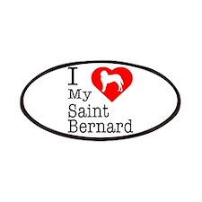 I Love My Saint Bernard Patches