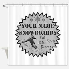 Snowboard Shower Curtain