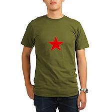 Red Star Mens Organic Men's T-Shirt (olive)
