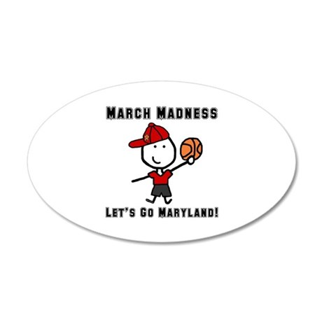 March Madness UMD 22x14 Oval Wall Peel