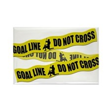 Lacrosse Crime Tape Rectangle Magnet (100 pack)