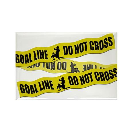 Lacrosse Crime Tape Rectangle Magnet
