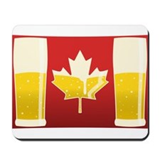 Canada Flag Beer Mousepad