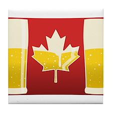 Canada Flag Beer Tile Coaster