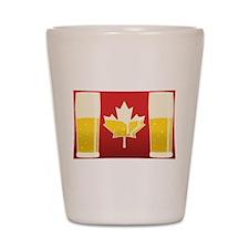 Canada Flag Beer Shot Glass