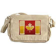 Canada Flag Beer Messenger Bag