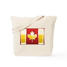 Canada Flag Beer Tote Bag