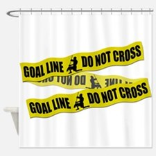 Lacrosse Crime Tape Shower Curtain