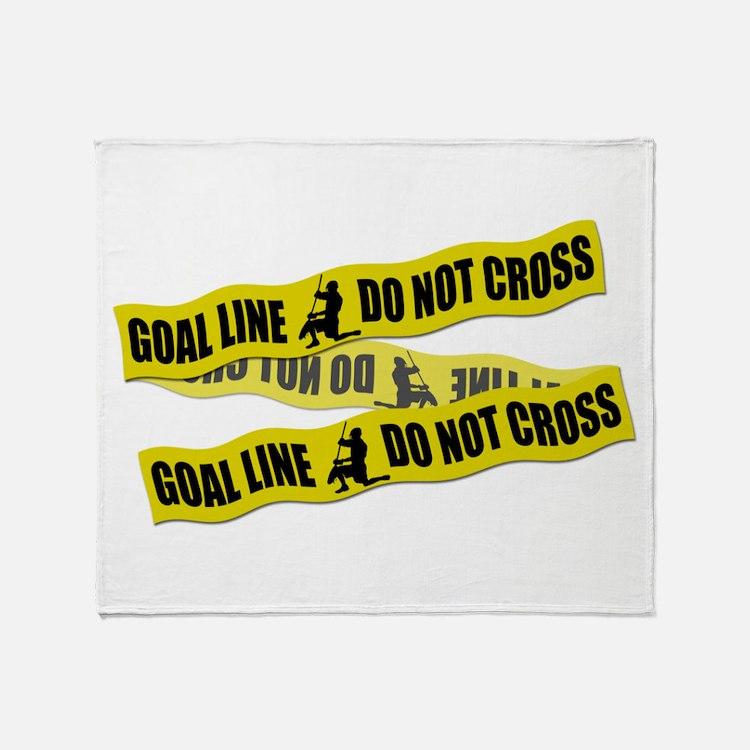 Lacrosse Crime Tape Throw Blanket