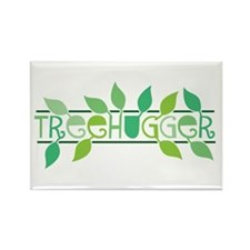 Leafy Treehugger Rectangle Magnet