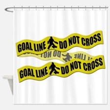 Field Hockey Crime Tape Shower Curtain