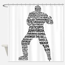 Hockey Fighter Goon Shower Curtain