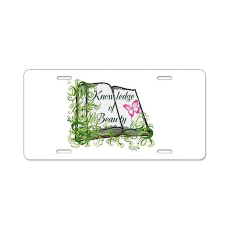 Book of Knowledge Aluminum License Plate