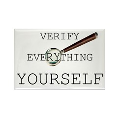 Verify Everything Yourself Rectangle Magnet (100 p