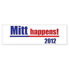"""Mitt Romney """"Mitt Happens"""" - Bumper Sticker"""