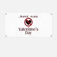 Say No Valentine's Banner