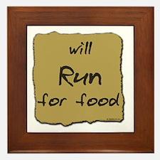 Will Run for Food Framed Tile