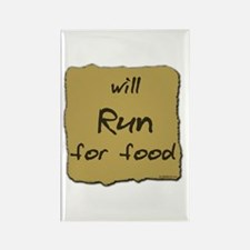 Will Run for Food Rectangle Magnet