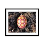 Pysanky in Furrow Framed Panel Print