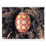 Pysanky in Furrow Small Poster