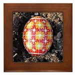 Pysanky in Furrow Framed Tile