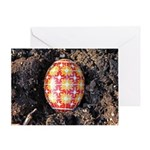 Pysanky in Furrow Greeting Card