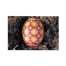Pysanky in Furrow Rectangle Magnet