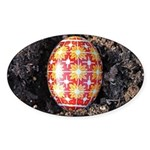 Pysanky in Furrow Sticker (Oval)