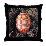 Pysanky in Furrow Throw Pillow