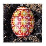 Pysanky in Furrow Tile Coaster