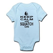 Keep Calm and Squatch On Infant Bodysuit