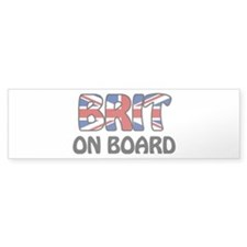 Brit on Board Bumper Sticker