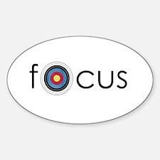 focus Oval Bumper Stickers