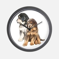 Tibetan Mastiff puppies Wall Clock