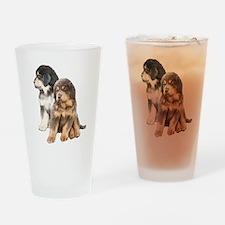 Tibetan Mastiff puppies Drinking Glass