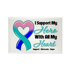 Thyroid Cancer Support Rectangle Magnet