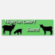 Nigerian Dwarf Goats! Green Bumper Bumper Bumper Sticker