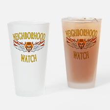 Neighborhood Watch Drinking Glass