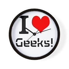 I Love Geeks! - Range Wall Clock