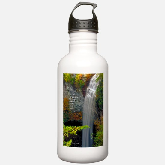 Waterfall Blessings Water Bottle