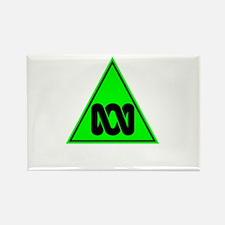 The ABC of Bias (black, no te Rectangle Magnet