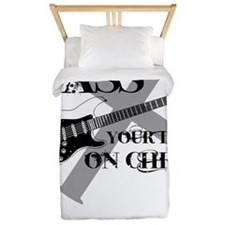 Bass your life on Christ Twin Duvet