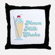 Vanilla Milkshake Throw Pillow